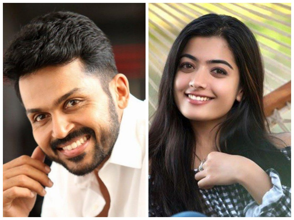 Karthi Next To Be Produced By Dreamwarrior Pictures With Rashmika As Heroine